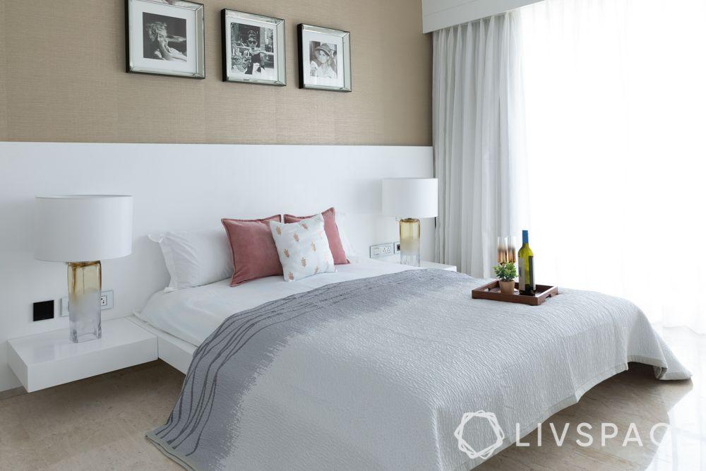 floating  furniture-bedroom-floating bed-floating side tables