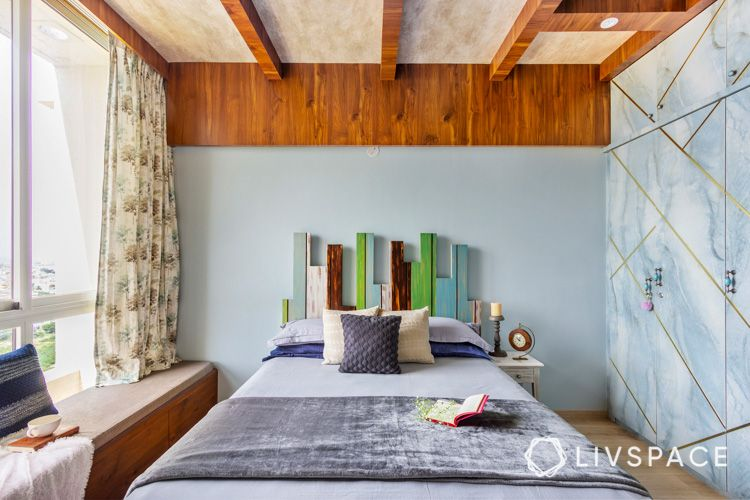 wooden design-rustic ceiling designs-wooden headboard designs