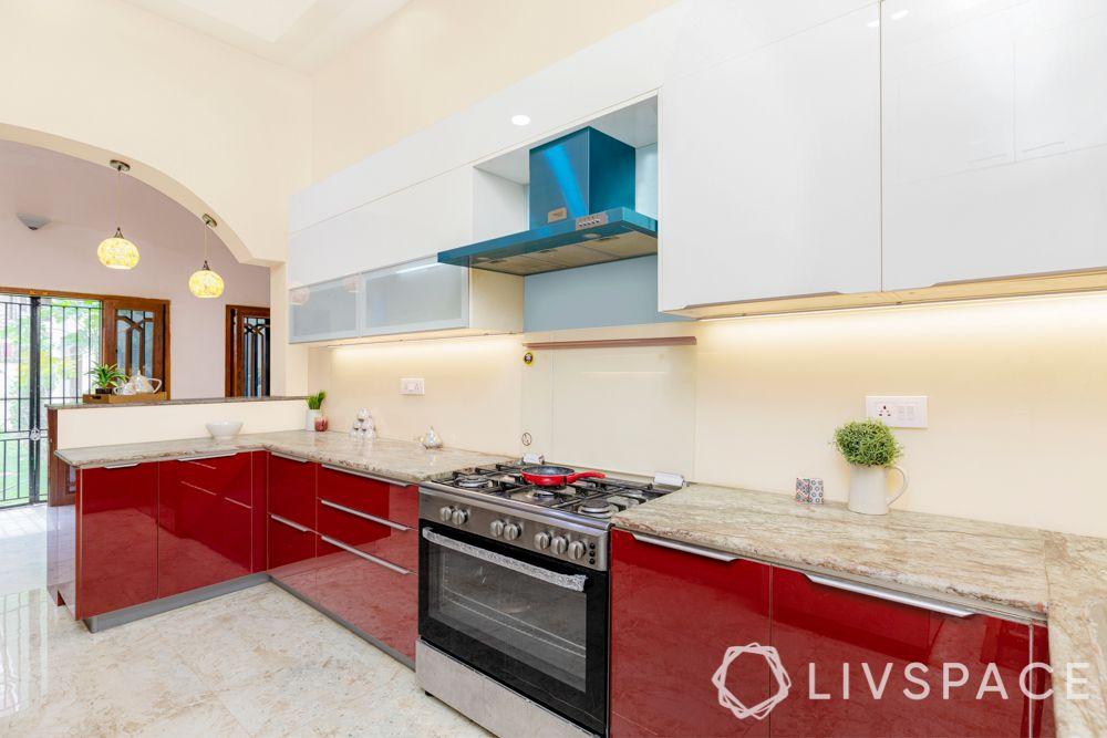 Kitchen zone-countertop-prep space