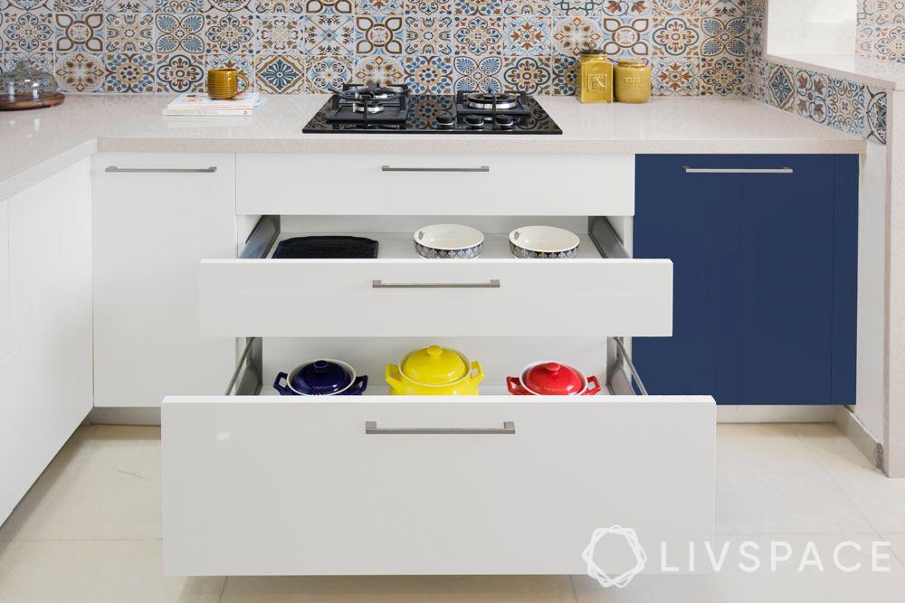 Kitchen zones-drawers-staples storage