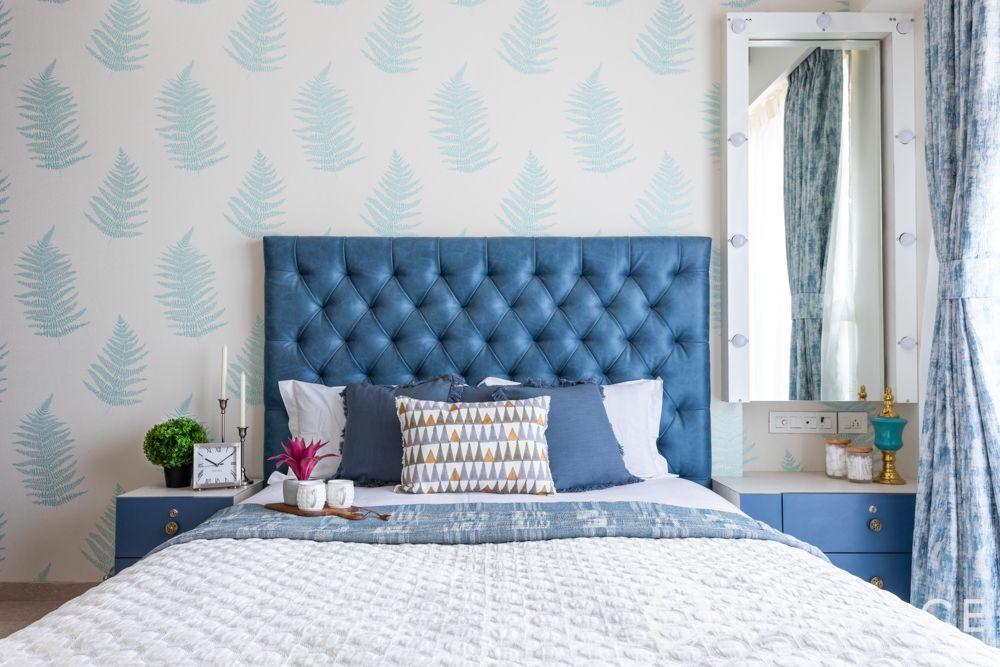 tufted-upholstery-blue-headboard-diamond-tufts