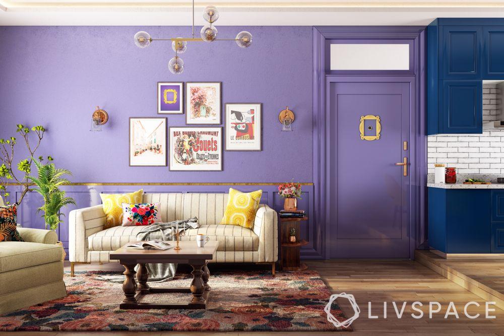 friends-inspired-living-room-rachel-monica-sofa-coffee-table-kitchen