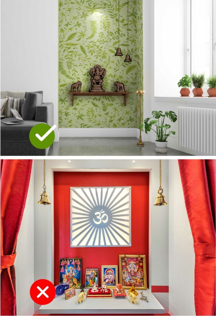 room colour as per vastu-pooja room
