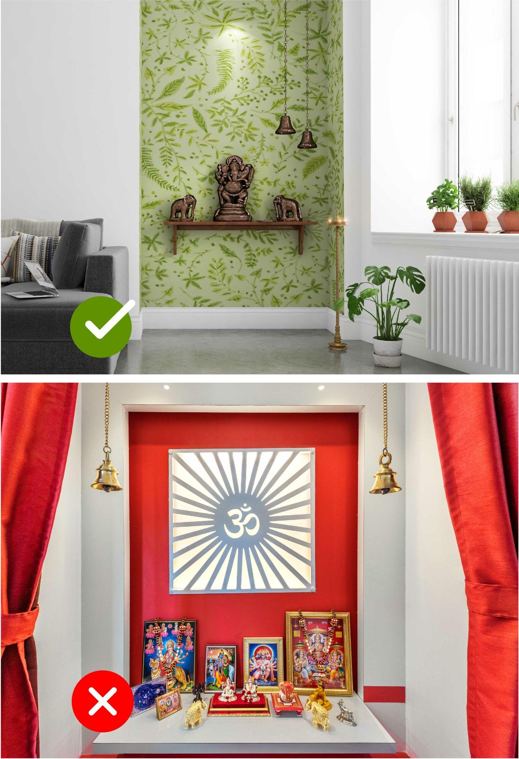 room colour as per vastu-pooja room