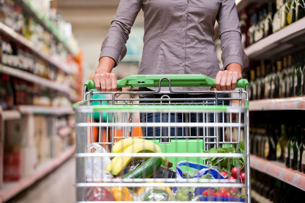 coronavirus prevention methods-grocery shopping-shopping cart
