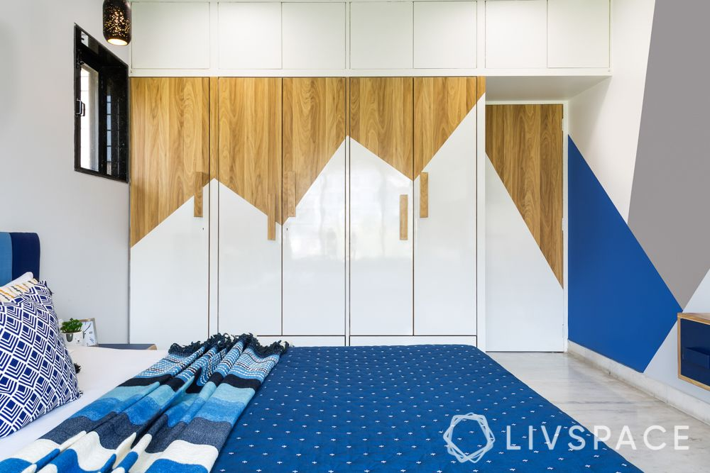 types of wardrobe finishes-glossy and matte laminate