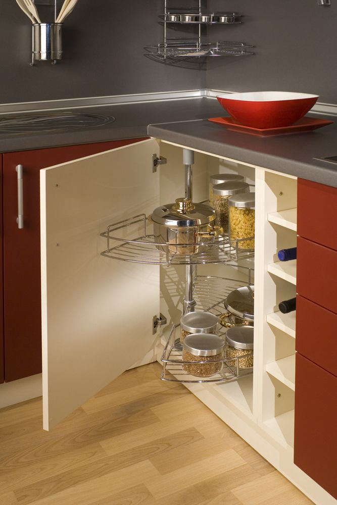 kitchen base cabinets-lazy susan pie-food storage