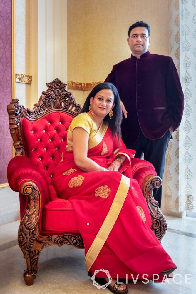 villa interior-red chair designs-wooden chair designs