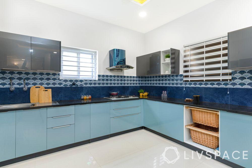 villa design-blue kitchen designs-blue kitchen cabinets