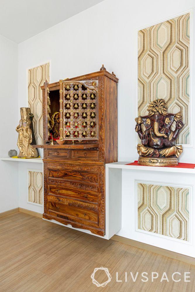 new mandir design-bells-ganesha-pooja unit