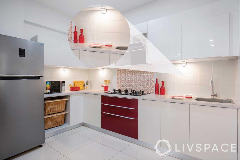 indian kitchen-white kitchen-task lighting in kitchen