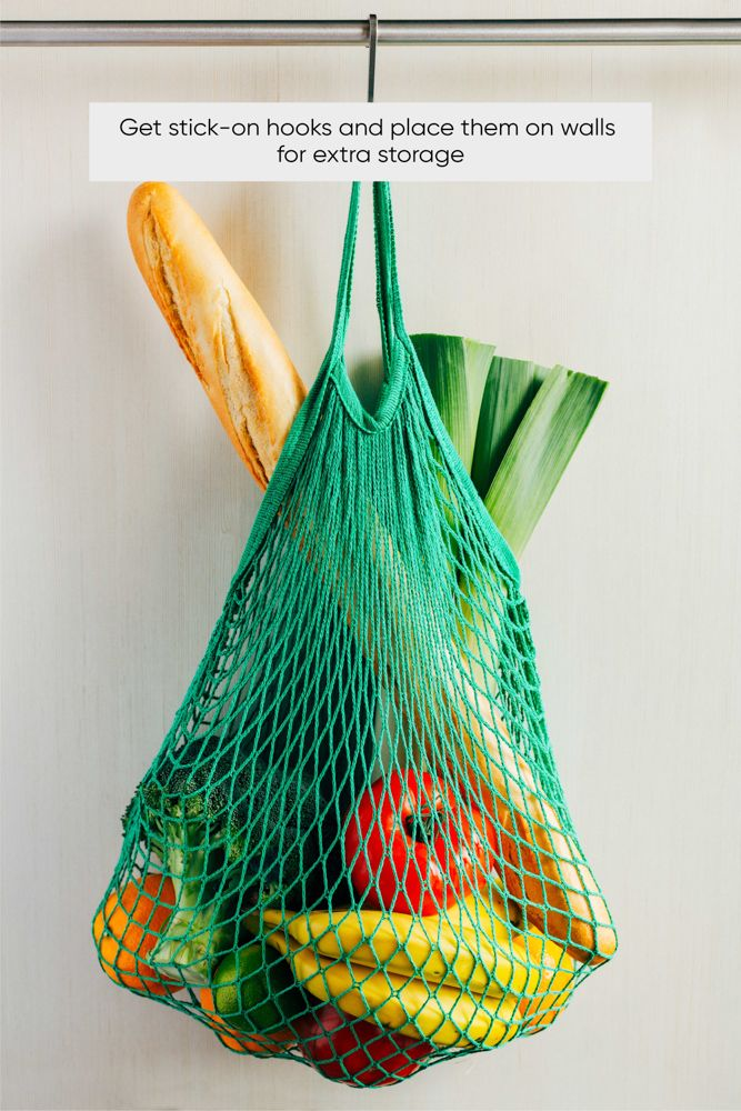 kitchen-organization-hanging-wall-accessory-shopping-bag