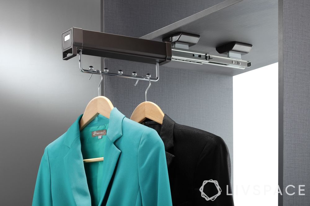 wardrobe interiors-pull-out hanger rail