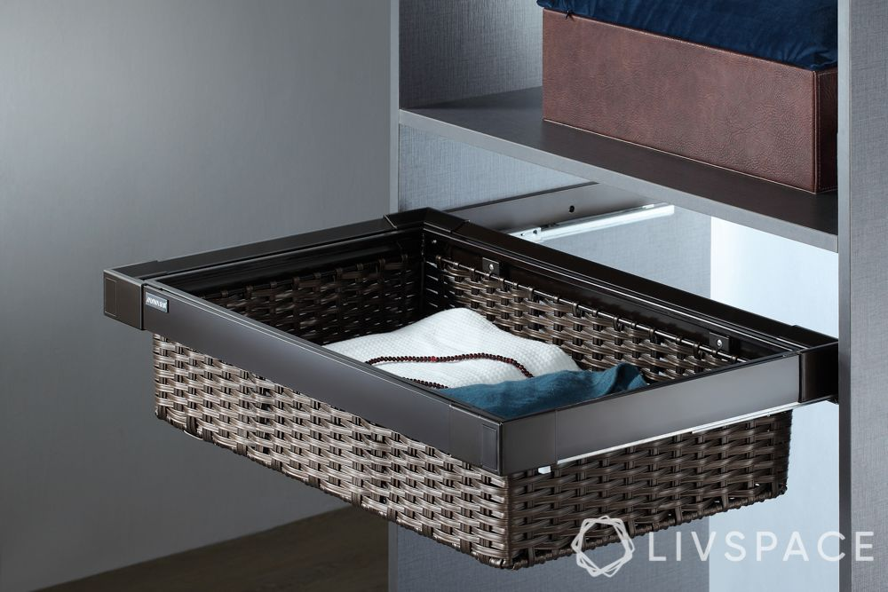 wardrobe accessories-wicker basket drawer