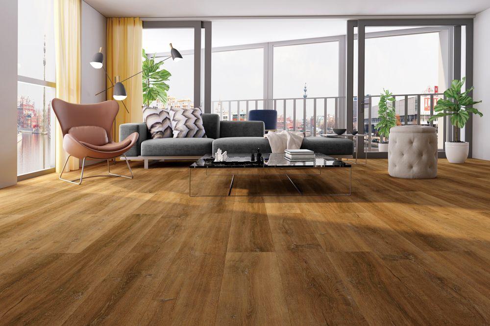 living room-stone composite polymer
