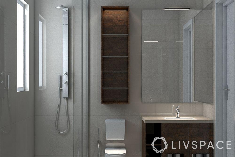 toilet design-bathroom-shower-vanity-sink-storage cabinets