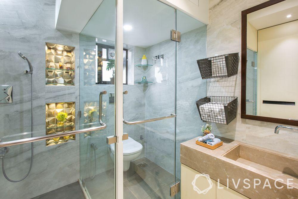 toilet design-shower head-shelves-shower zone-storage-tiles