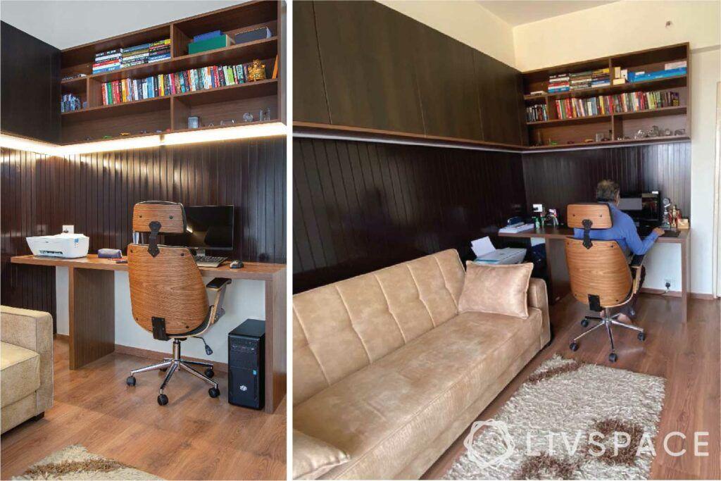 home-office-wooden-panels-bookshelf-chair