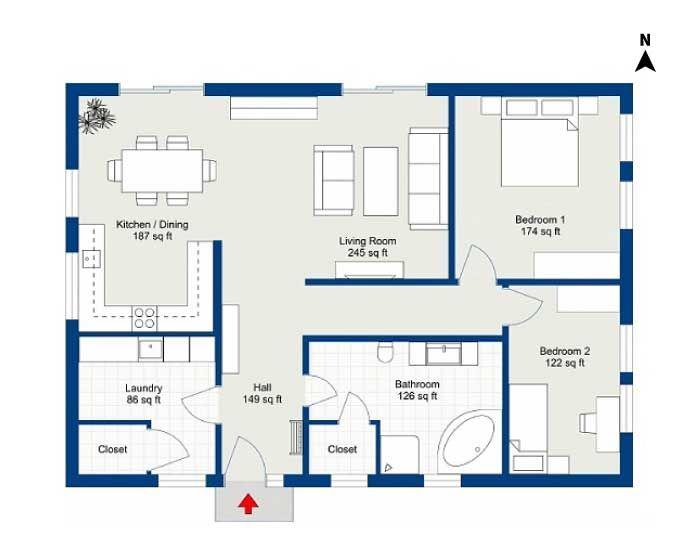 Floor plan-room dimensions