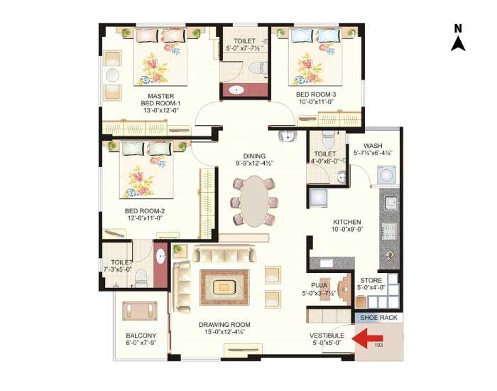 Floor plan-directions