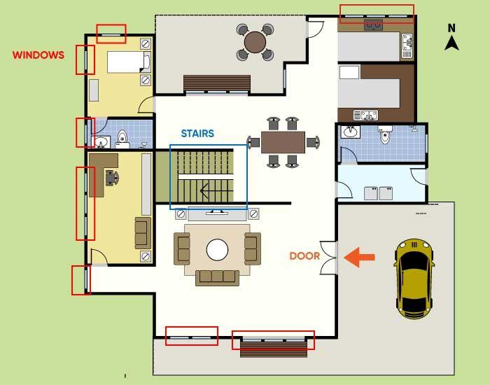 Floor plan-house zones