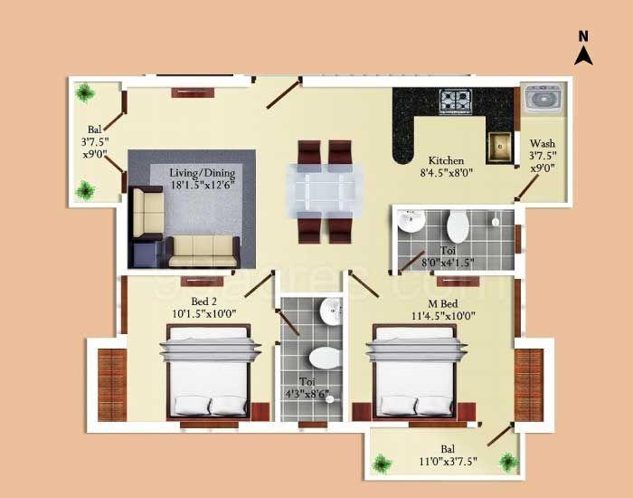 Floor plan-furniture