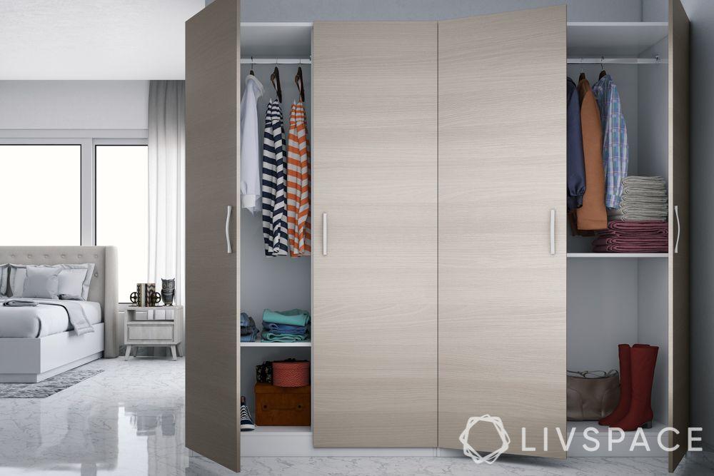 hinged or sliding doors-hinged wardrobe designs-handleless wardrobe designs