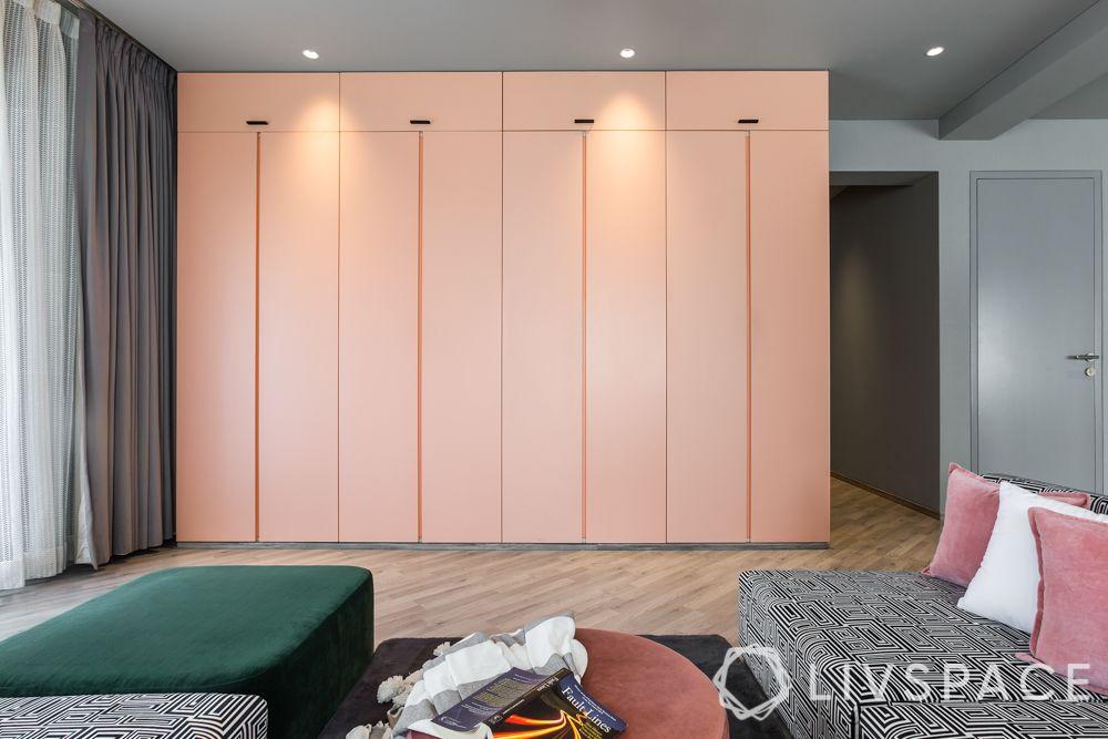 4bhk house plan-master bedroom designs-bedroom furniture designs-bedroom wardrobe designs-matte pu wardrobe