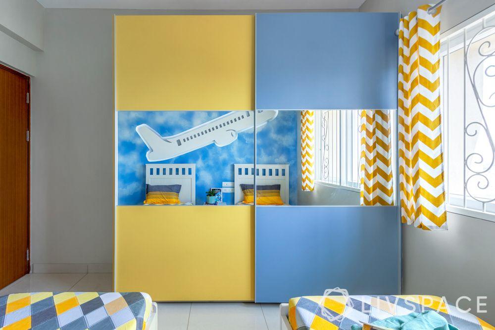 kids bedroom-wardrobe-matte finish