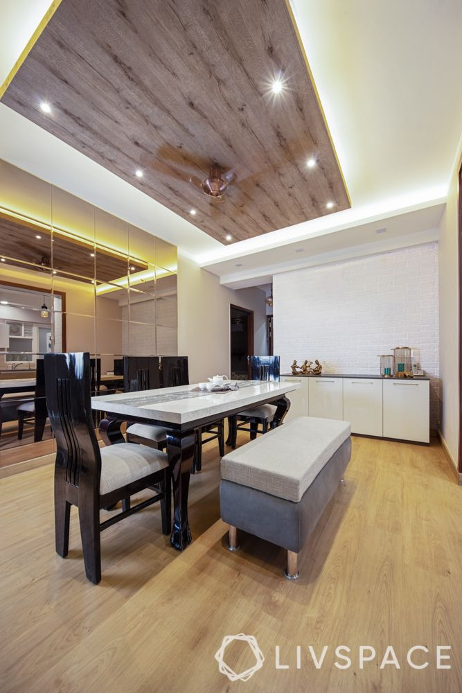 Wooden false ceiling_led lights