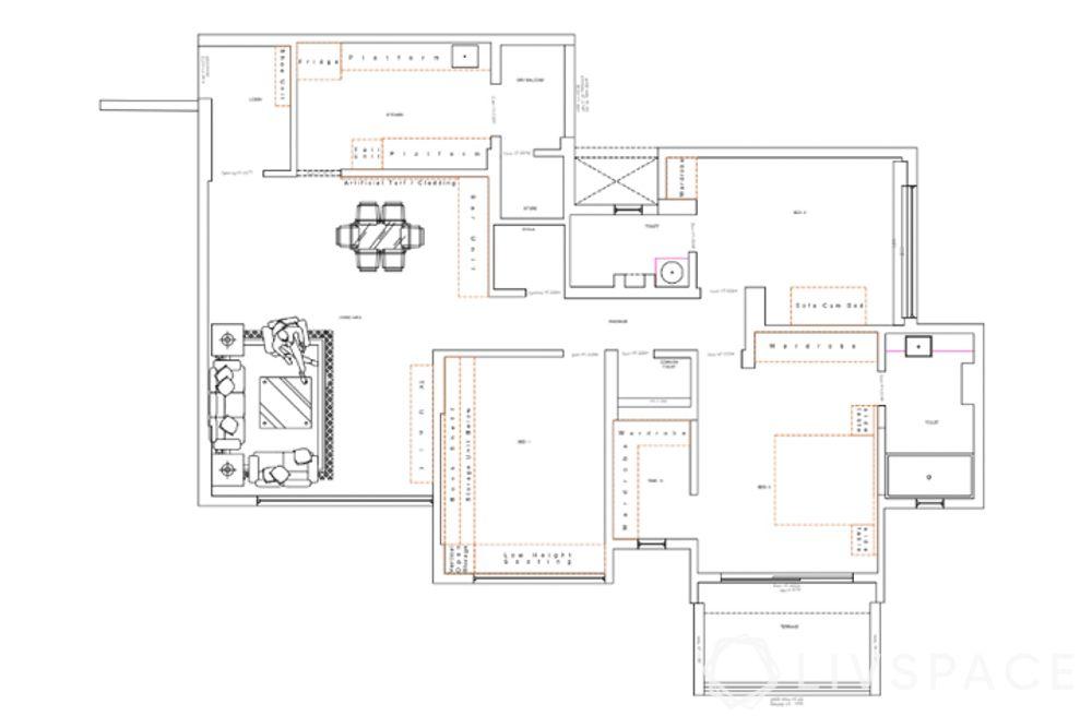 best interior designers in pune-floor plan
