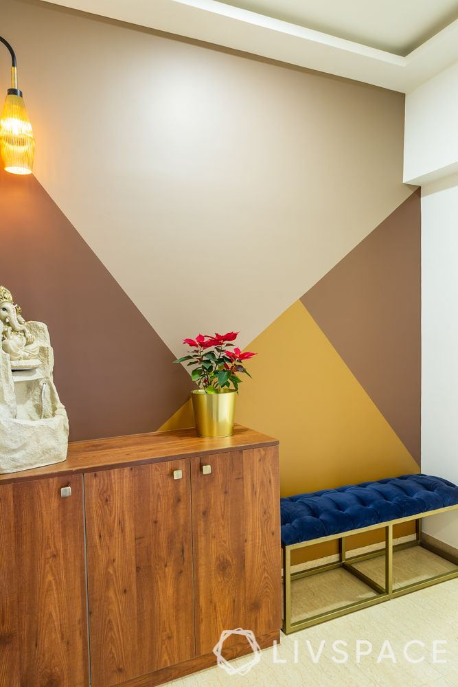 best interior designers in pune-foyer-bench