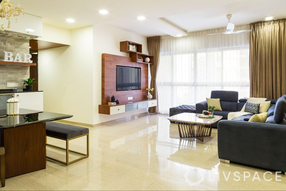 best interior designers in pune-tv unit-living room-sofa