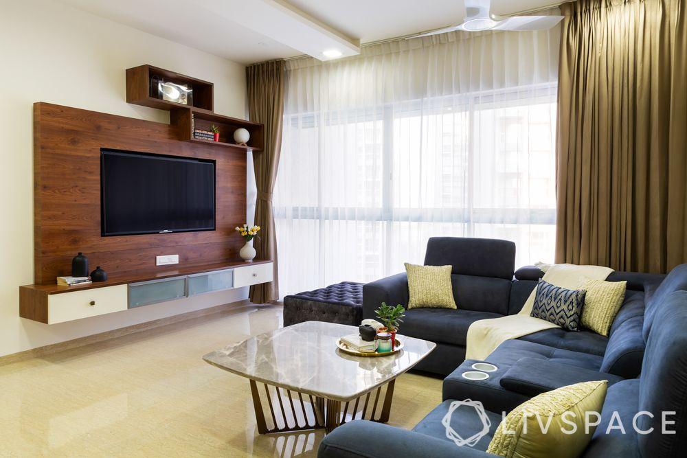 living room-tv unit-closed unit-sofa