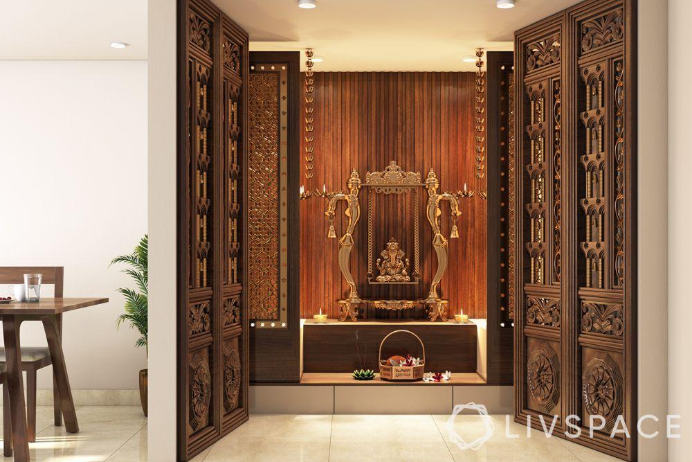 mandir at home-doors-wooden doors-traditional