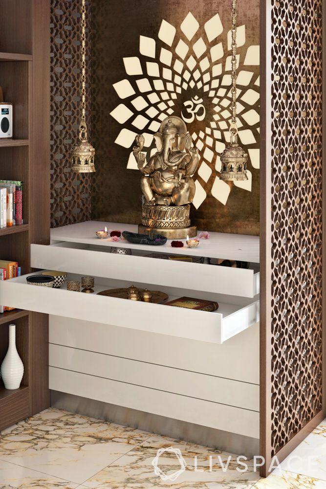 mandir at home-storage-jaali panel-drawer-samagri