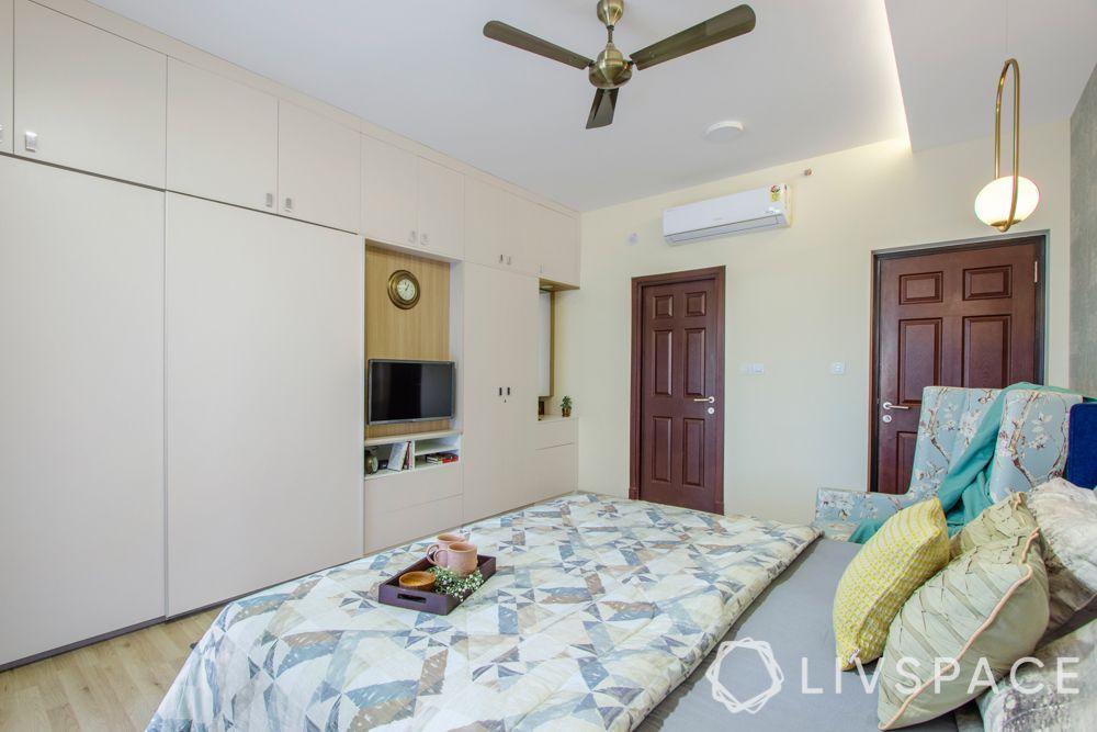 home interiors Bangalore-wardrobe units-doors-tv unit-vanity unit