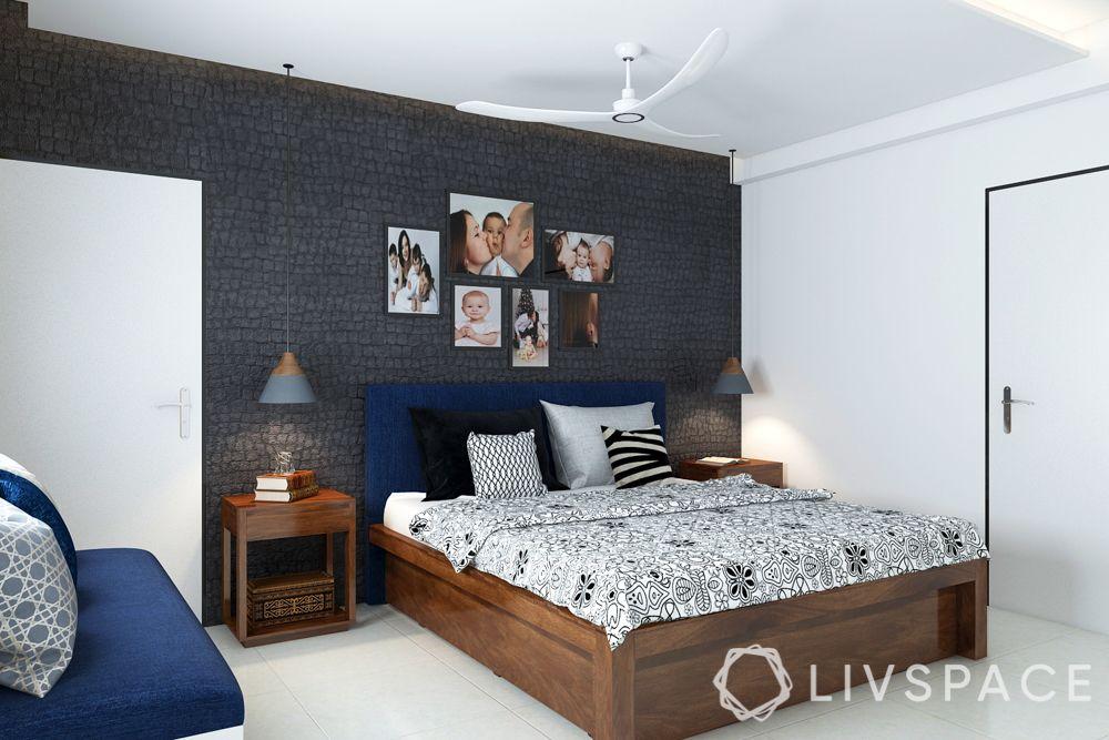 black wall cladding