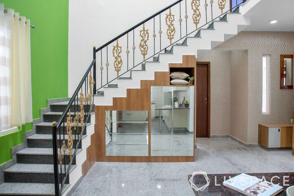 stairway design-under stairway storage ideas