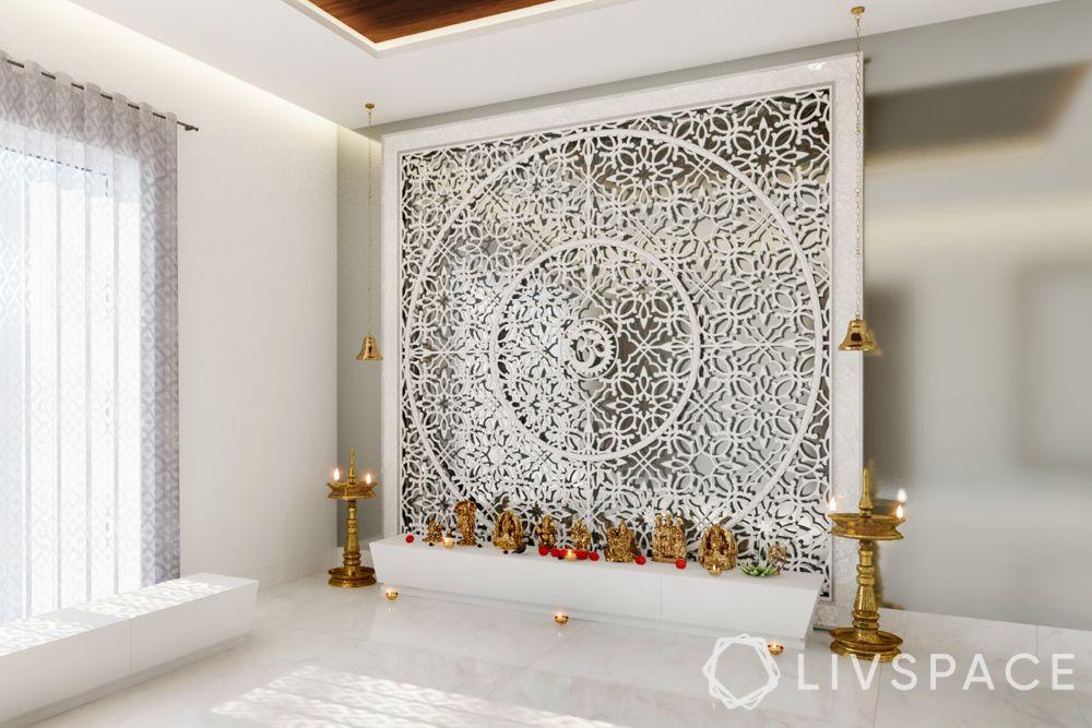marble mandir design-marble panelling
