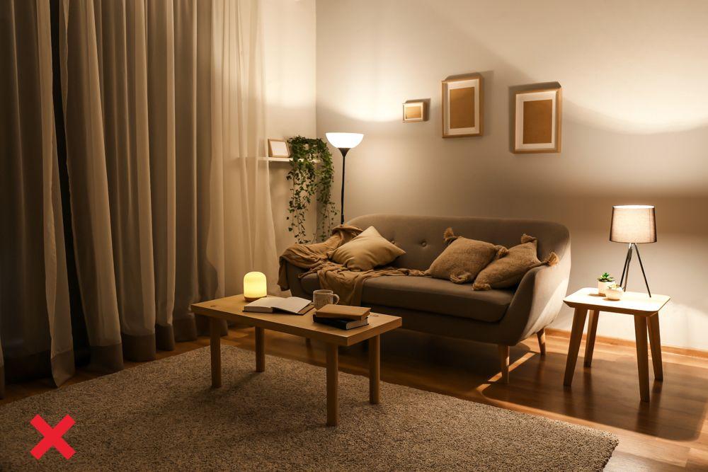 interior design mistake-light layering