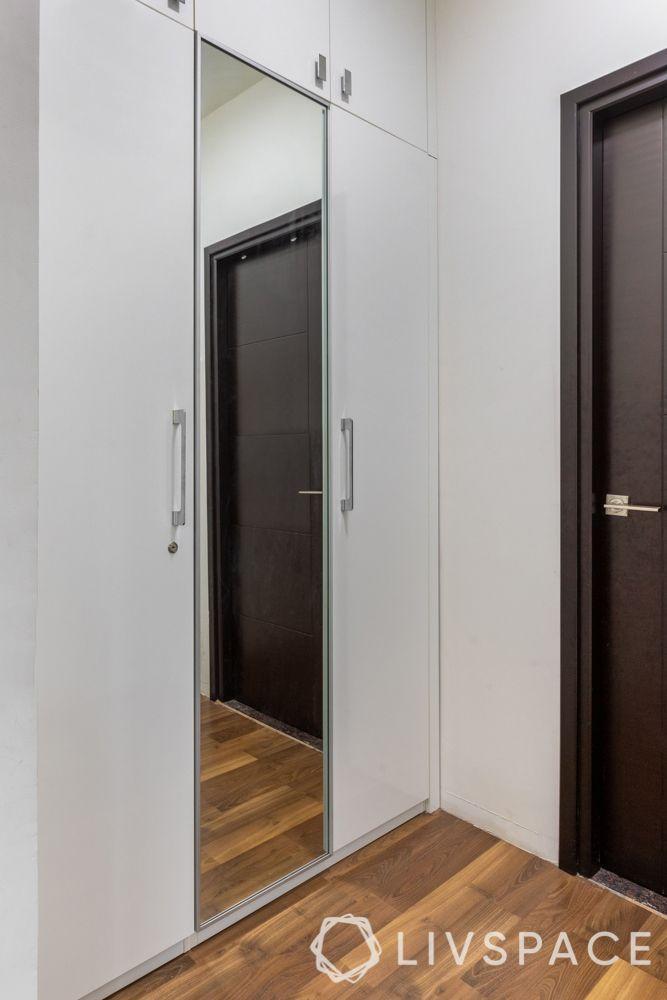 hyderabad interiors-laminate finish wardrobes-wooden flooring