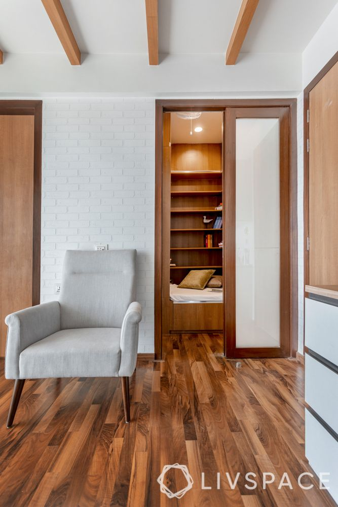 interior design-wooden flooring-private reading space
