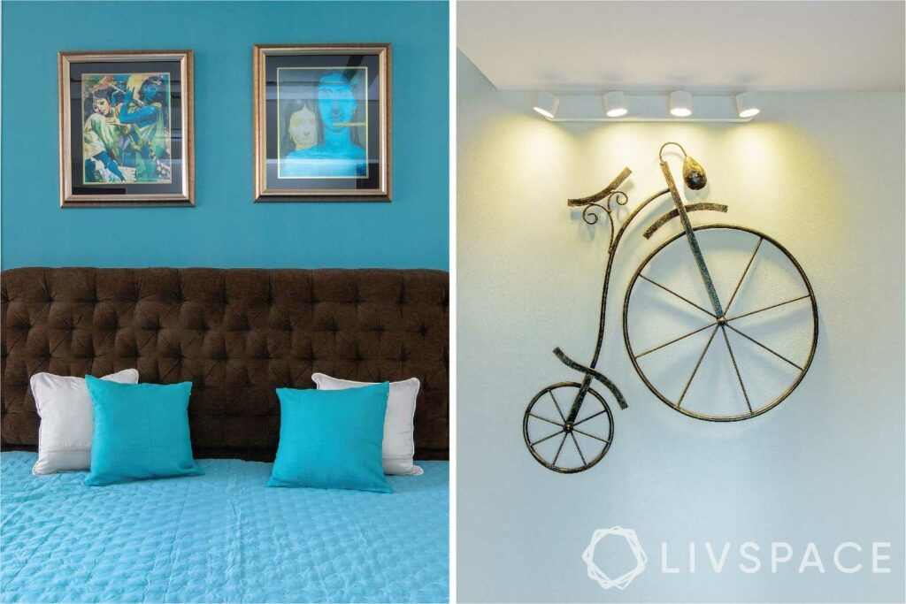 small budget big makeover-artwork-wall hanging-cycle