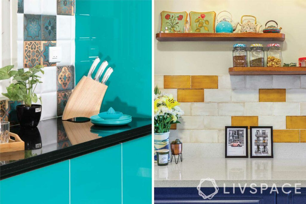 small budget big makeover-kitchen-knife holder-organiser-wall shelves
