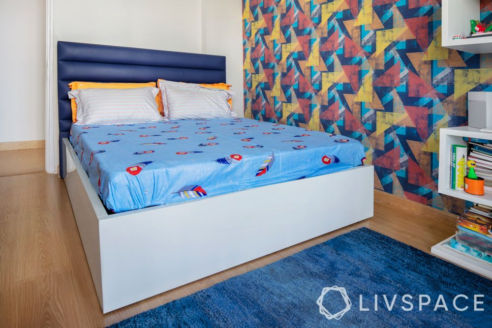 colorful home-mediterranean wallpaper-blue wallpaper