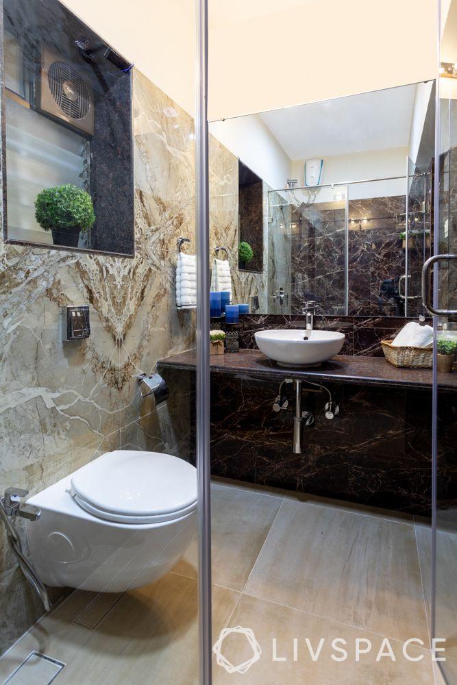 shower cubicles-grey bathroom-black sink designs-door
