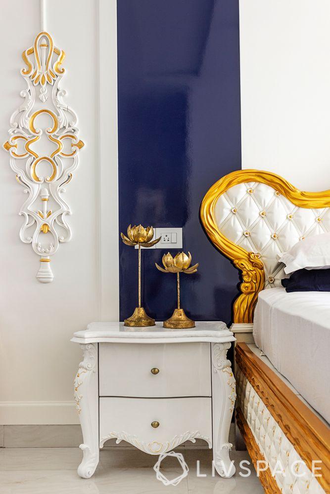 pop designs-white walls-blue panel