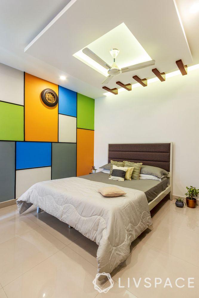 pop designs-wooden rafters-false ceiling
