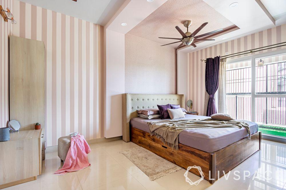 pop wall-pelmet design-stripes wall design